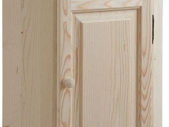 BARCLER - meuble d'angle en bois brut 50x83x50cm - Rinconera