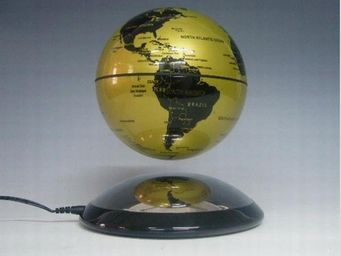 NetCadeau - globe en l�vitation dor� - Globo Terrestre