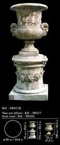 Pierres Et Terres De France - vase aux beliers - Urna Ornamental De Jardín
