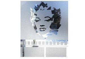 J'HABILLE VOS FENETRES - marylin pop - Lámina Adhesiva Intimidad