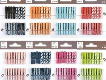 TOGA - kit mini pinces � linge 8 couleurs - Pinza De Ropa