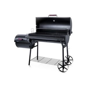 WHITE LABEL - barbecue charbon avec thermomètre xl - Barbacoa De Carbón
