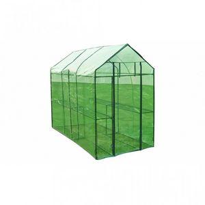 WHITE LABEL - serre de jardin 120x240x190 cm - Invernadero