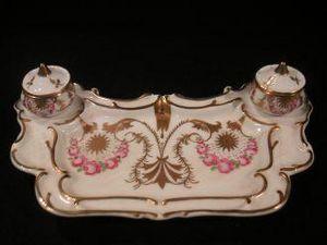 Demeure et Jardin - encrier en porcelaine - Tintero