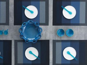 CHILEWICH - indigo color tempo - Mantel Individual