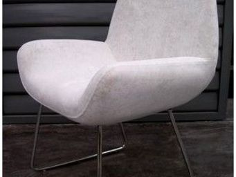 Mathi Design - chaise seventies velours - Sill�n Bajo