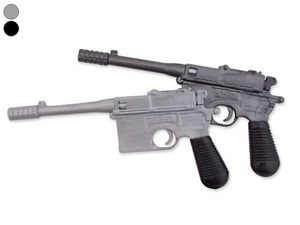WHITE LABEL - stylo revolver noir crayon insolite original - Bolígrafo
