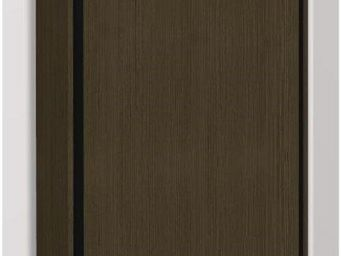 WHITE LABEL - armoire lit escamotable eos, chêne moka. matelas t - Armario Cama