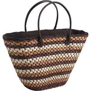 Aubry-Gaspard - sac cabas anses en simili cuir - Cesta De La Compra