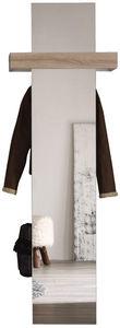 COMFORIUM - meuble vestaire avec miroir coloris blanc et chêne - Vestidor
