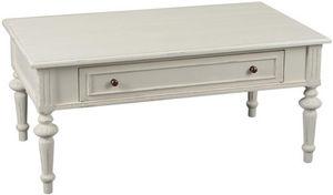 Amadeus - table basse tiroir bois crème perle - Mesa De Centro Rectangular