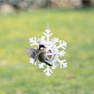 Wildlife Garden -  distributeur de boules de graisse étoile de neige blanche - Comedero De Pájaros
