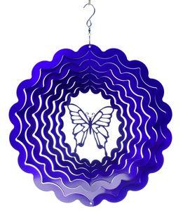SPIN-ART SPINNERS - mobile à vent papillon violet 15cm - Móvil
