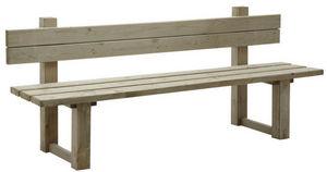 Aubry-Gaspard - banc de jardin avec dossier en bois traité autocla - Banco De Jardín