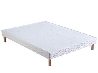 Bultex - sommier confort ferme 2x80x190 bultex - Somier De Lamas Fijo