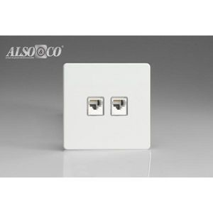 ALSO & CO - double rj45 socket - Toma Rj45