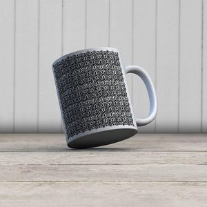 la Magie dans l'Image - mug anis blanc noir 1 - Taza