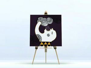 la Magie dans l'Image - toile ogre pluie fond marron - Impresión Digital Sobre Tela