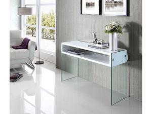WHITE LABEL - console jade - blanc - Consola
