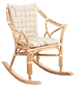 Aubry-Gaspard - rocking-chair en rotin naturel - Mecedora