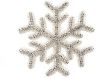 Kaemingk - flocon de noël a strass blanc/argent - Decoración De Árbol De Navidad