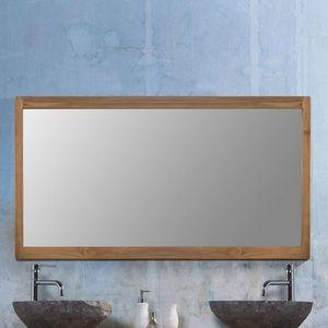 BOIS DESSUS BOIS DESSOUS - miroir en bois de teck 145 - Espejo De Cuarto De Baño