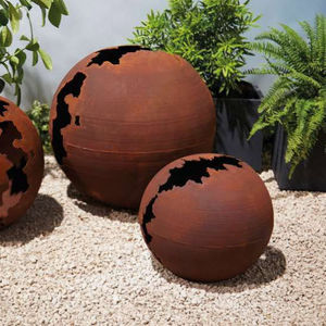 TRUFFAUT - sphère craquelée - Ornamento De Jardín