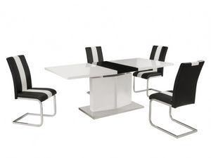 Vente-Unique.com - ensemble table + chaises trinity - Comedor
