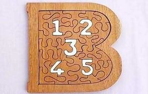 Indonesia Wooden Toys Corps - 123 puzzle i - Puzzle