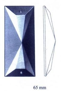 Falbala - trapèze - Candelero Con Cristales Colgantes