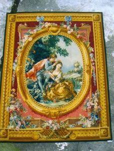 Galerie Girard - scène galante - Tapiz Antiguo