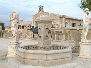 Provence Retrouvee - fontaine centrale diametre 252cm - Fuente Exterior