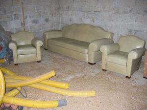 Fauteuil Club.com - salon canapé + deux fauteuils club - Salón
