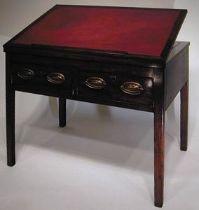 BAGGOTT CHURCH STREET - sheraton georgian mahogany reading/drawing table - Mesa De Dibujo