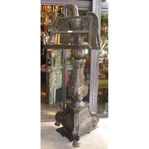 Antiquités d'YTHURBIDE - important lutrin en bois sculpté et laqué - Atril