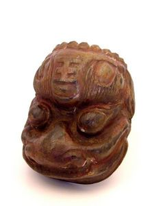 Aurélie DoYe - chinese mask in wood - Máscara