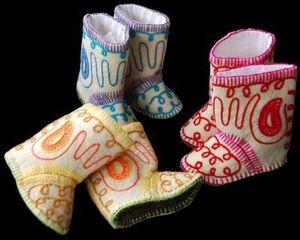 FEELFELT . feel good - blanca - Zapatillas Para Casa Para Niño