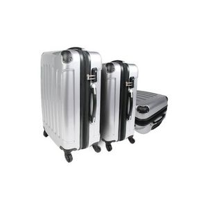 WHITE LABEL - lot de 3 valises bagage gris - Maleta Con Ruedas