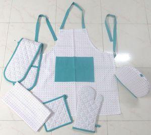 ITI  - Indian Textile Innovation - small dots - turquoise - Delantal De Cocina