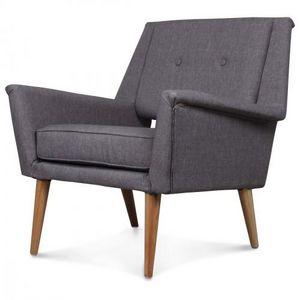 Demeure et Jardin - fauteuil design scandinave vintage 60 gris retrö - Sillón