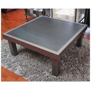 Mathi Design - table basse duo acier - Mesa De Centro Cuadrada