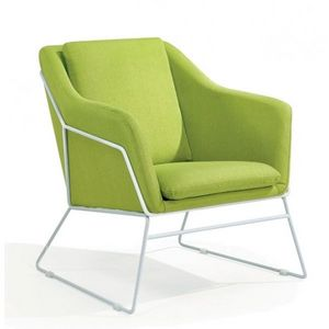 Mathi Design - fauteuil narvik vert - Sillón