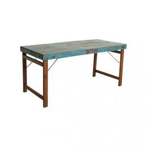 Mathi Design - table bleue vintage pliante - Mesa De Comedor Rectangular