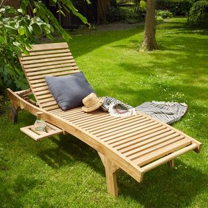 BOIS DESSUS BOIS DESSOUS - bain de soleil en bois de teck midland - Tumbona