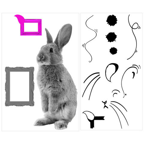 ALFRED CREATION - Pegatina-ALFRED CREATION-Sticker LAPIN