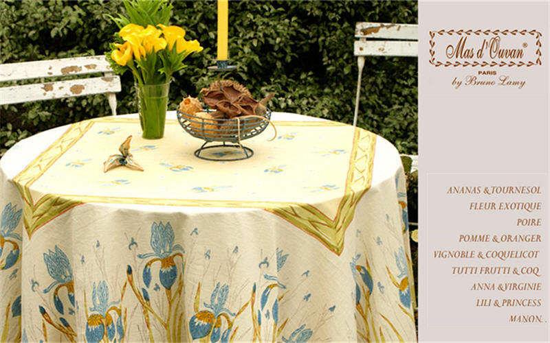 MAS D'OUSVAN Tovaglia rotonda Tovaglie Biancheria da Tavola Sala da pranzo | Charme