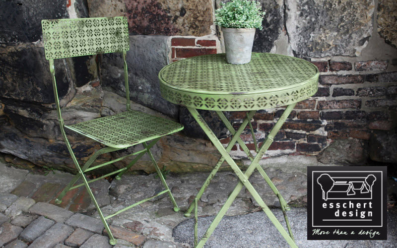 Esschert Design Tavolino rotondo per esterni Tavoli da giardino Giardino Arredo  |
