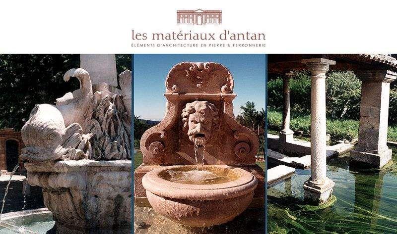 Les Materiaux D'Antan Fontana a muro Fontane Giardino Vasi  |