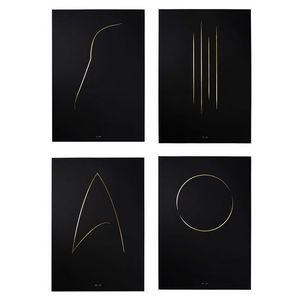 THE THIN GOLD LINE - the full collection - Impressione Di Arte