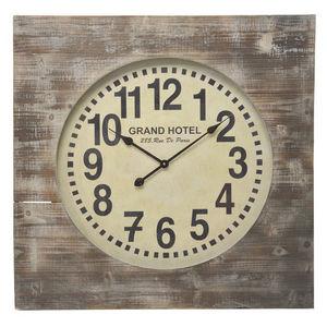 BELDEKO - horloge hotel de paris en bois - Orologio A Muro
